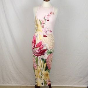 1701a535925 Ted Baker Pink Floral Maxi Dress